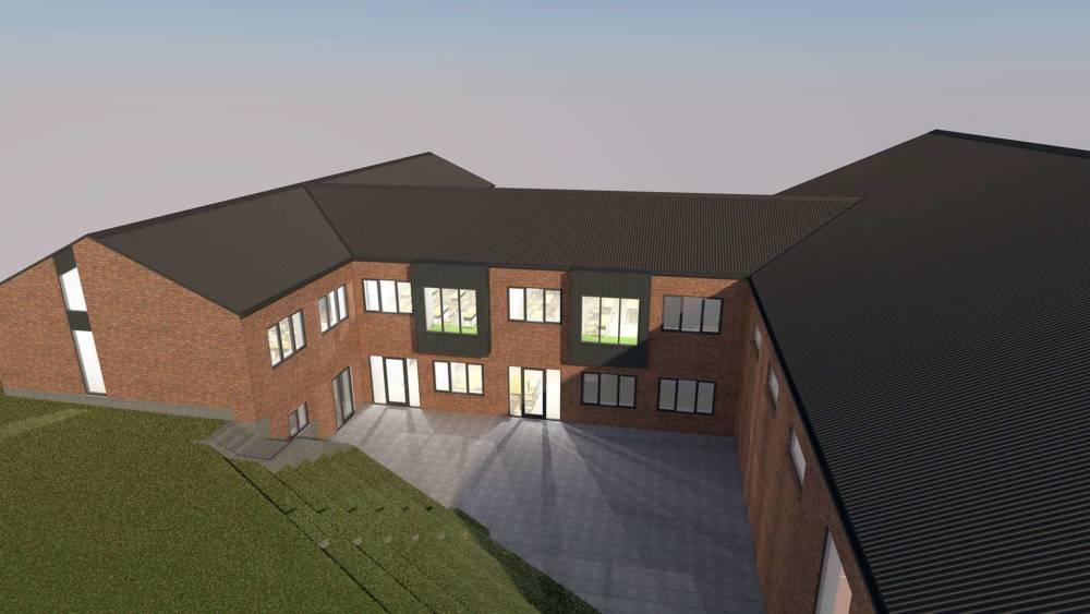 Hjembaek efterskole tilbygning Kullegaard
