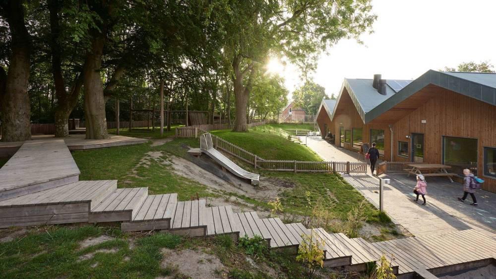 Børnehuset Galaxen i Jyderup tegnet af Kullegaard