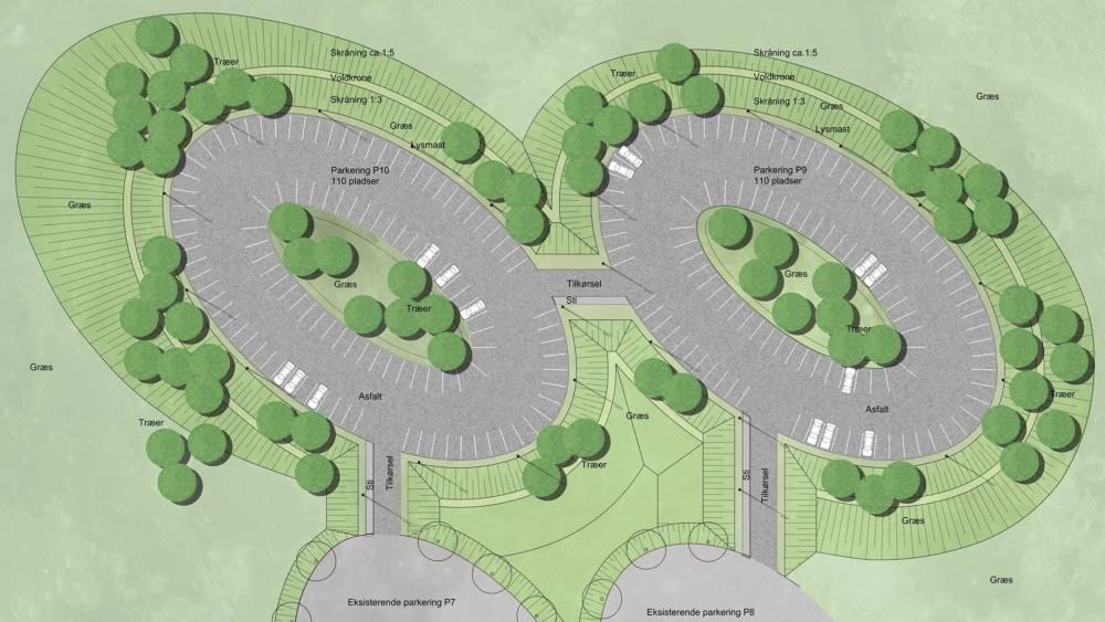 KMD Ballerup parkering udviklet af landskab Kullegaard
